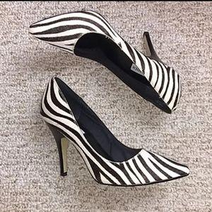 Steve Madden • Faux Fur Zebra Heels